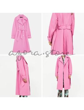 Zara New Ss18 Coloured Trench Coat Pink 8073/038 by Zara