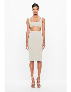 Cream Bandage Bralet by Missguided