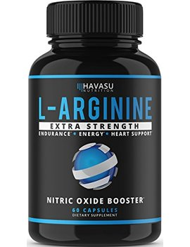 Extra Strength L Arginine   1200mg Nitric Oxide Supplement For Muscle Growth, Vascularity & Energy   Powerful No Booster With L Citrulline & Essential Amino Acids To Train Longer & Harder by Havasu Nutrition