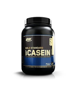 Optimum Nutrition Gold Standard 100 Percents Micellar Casein Protein Powder, Slow Digesting, Helps Keep You Full, Overnight Muscle Recovery, Creamy Vanilla, 2 Pound by Optimum Nutrition