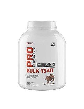 Gnc Pro Performance Bulk 1340 High Calorie Mass Gainer, Double Chocolate, 9 Servings, 114.24 Oz by Gnc