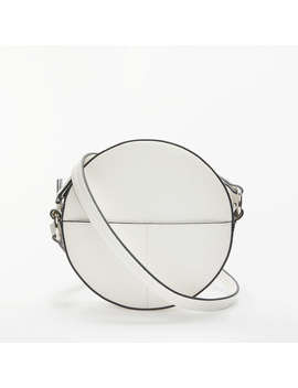 Kin By John Lewis Sia Circle Cross Body Bag, White by Kin By John Lewis