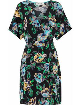 Wrap Effect Floral Print Cady Mini Dress by Diane Von Furstenberg
