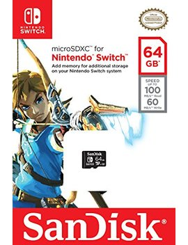 San Disk 64 Gb Micro Sdxc Uhs I Card For Nintendo Switch  Sdsqxat 064 G Gn6 Za by San Disk