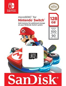 San Disk 128 Gb Micro Sdxc Uhs I Card For Nintendo Switch  Sdsqxao 128 G Gn6 Za by San Disk