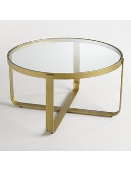 Round Glass And Metal Ilene Coffee Table by World Market
