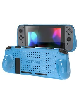 Yccteam Protective Case For Nintendo Switch, Heat Dissipation Comfortable Soft Silicone Gel Rubber Full Body Protection Shockproof Cover Case For Nintendo Switch In Handheld Gamepad Mode (Blue) by Yccteam