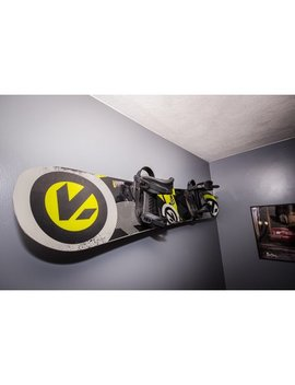 Naked Snow | Snowboard Display Wall Rack | Powder Coat Black   Large | Store Your Board by Store Your Board
