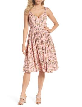 Sarah Floral Print Sundress by Gal Meets Glam Collection