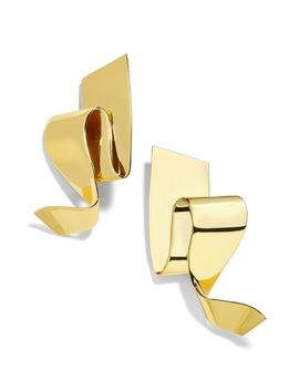 Nareh Metal Ribbon Drop Earrings by Baublebar