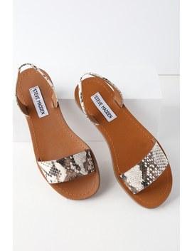 Alina Snake Flat Sandals by Lulu's