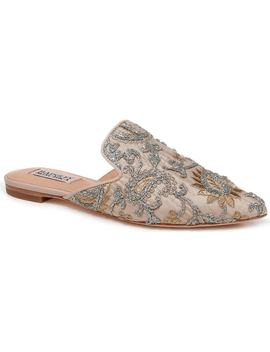 Phoebe Embroidered Slide by Badgley Mischka
