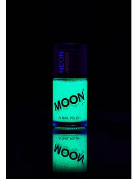 Neon Green Uv Glitter Nail Polish by Moon Creations