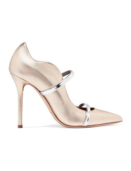 Maureen Metallic Leather Pumps by Malone Souliers