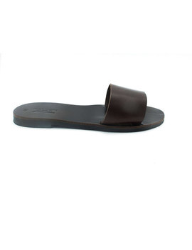 Slip On Sandals In Dark Chocolate Brown, Casual Women Slides Available In 19 Colors by Etsy