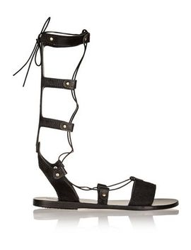 Thebes Lace Up Leather Sandals by Ancient Greek Sandals
