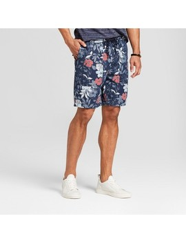 Men's Floral Elastic Waist Shorts   Goodfellow & Co™ Navy by Goodfellow & Co™