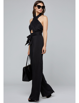 Front Crisscross Jumpsuit by Bebe
