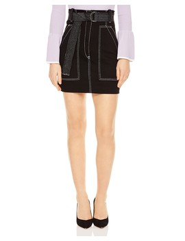Elen Contrast Stitched A Line Mini Skirt  by Sandro