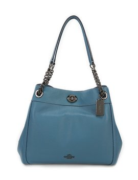 Turnlock Edie Shoulder Bag In Pebble Leather by Generic