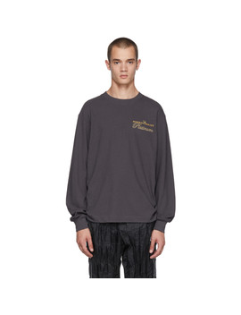 Black Long Sleeve 'rodeo Drive Platinum' T Shirt by Alexander Wang