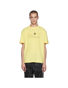 Yellow 'rodeo Drive Platinum' T Shirt by Alexander Wang
