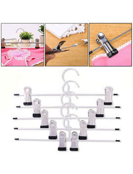 20pcs Strong Metal Trousers Clip Hanger Skirt Pants Clothes Coat Hooks Rack. by Unbranded