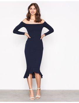 Bardot Fishtail Hem Dress by Missguided