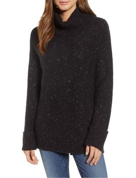 Roll Neck Cotton Wool Blend Sweater by Caslon®
