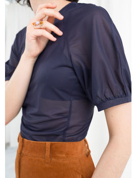 Sheer Puff Sleeve Top by & Other Stories