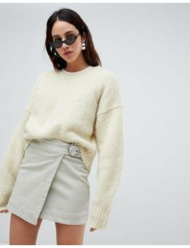 Weekday Tie Front Mini Skirt by Weekday