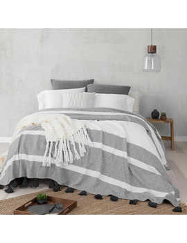 Ugg® Blake Queen Bedspread In Charcoal by Bed Bath And Beyond