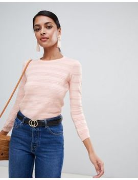 Warehouse Stitch Detail Jumper In Pale Pink by Warehouse