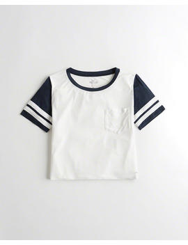 Colorblock Crop T Shirt by Hollister