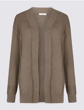 Pure Cotton Longline Cardigan by Marks & Spencer