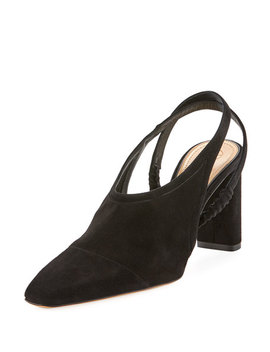 Camil Suede Slingback Pump by The Row