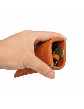 Mens Leather Squeeze Coin Purse Change Holder Wallet With Keyring by Uiyi