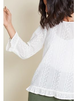 Just Add Joy Embroidered Blouse In 4 X by Modcloth