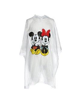 Disney Adult Mickey Minnie Sitting Family Rain Poncho Raincoat Keep Dry Clear by Monogram