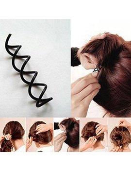2 Pc Hot Magic Simple Fast Spiral Hair Braid Twist Styling Tool Clip Pin Hair Bun by Amazon