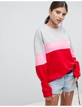 Pretty Little Thing Colourblock Sweater by Pretty Little Thing