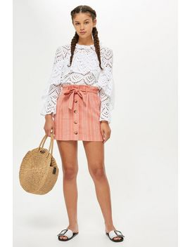 Petite Striped Mini Skirt by Topshop