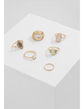 Pastel Fili Ring 6 Pack   Ring   Gold by Miss Selfridge
