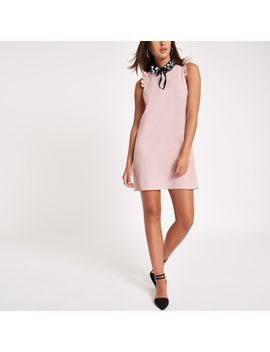 Pink Embellished Collar Mini Dress by River Island