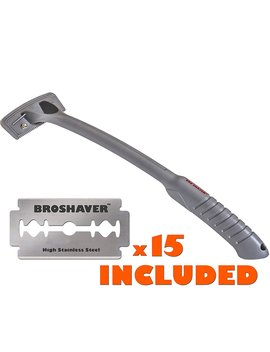 Bro Shaver Back Hair Shaver, Uses Standard Double Edge (De) Safety Razor Blades, Stainless Steel Bolts, Cheap Refills, Blades Cost Pennies, 15... by Bro Shaver
