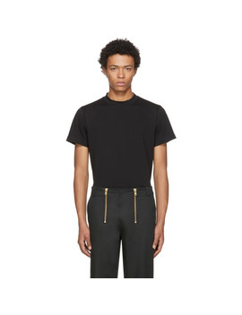 Black Skinny Tall Military T Shirt by Helmut Lang