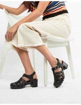 Asos Design Tourist Jelly Heeled Sandals by Asos Design