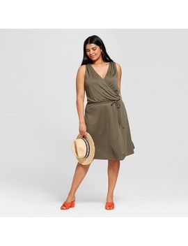 Women's Plus Size Knit Wrap Dress   A New Day™ by A New Day™