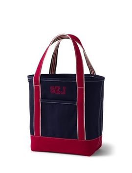 Medium Two Tone Open Top Canvas Tote Bag by Lands' End