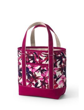 Medium Print Open Top Canvas Tote Bag by Lands' End